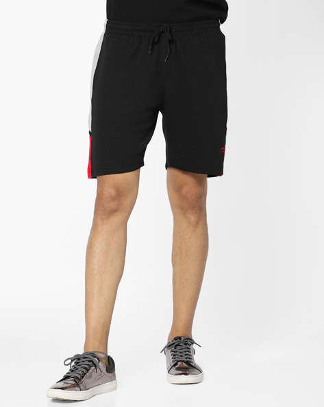 Mid-Rise Shorts With Drawstring Waist By PROLINE ( Black )