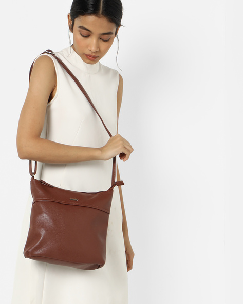 Luba Milled Texture Sling Bag By Lavie ( Brown )