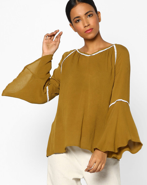 Top With Bell Sleeves By Juniper ( Olive )