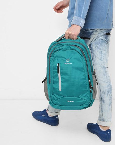 Everyday Backpack With Signature Branding By Murano ( Teal )