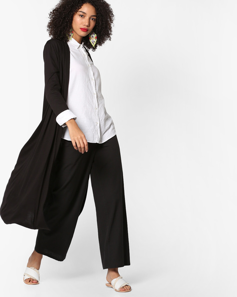 Open-Front Longline Shrug By Project Eve WW Athleisure ( Black )