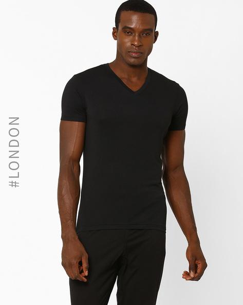 Stay Soft Supima Cotton Vest By Marks & Spencer ( Black )