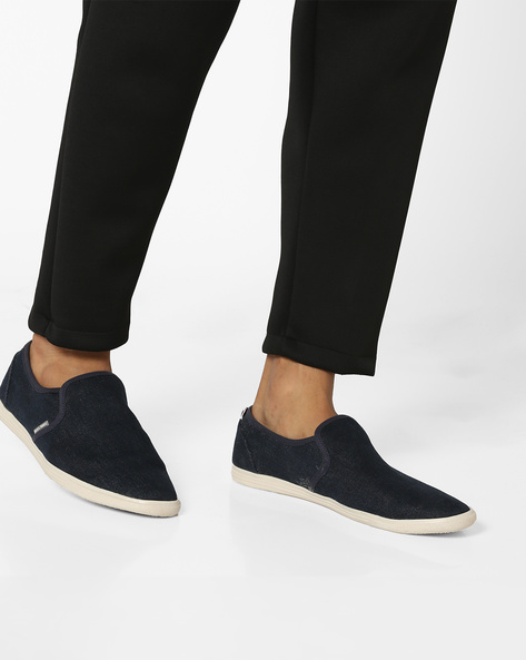 Snake Canvas Slip-On Shoes By Jack & Jones ( Grey )