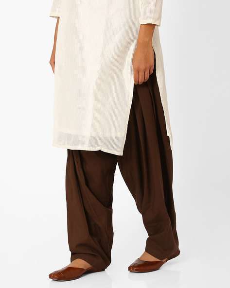 Cotton Patiala Pants By Stylenmart ( Brown )