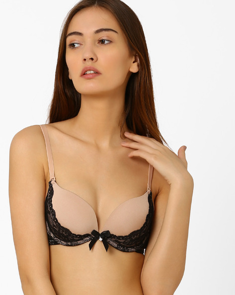 Push-Up Bra With Lace Detail By PrettySecrets ( Nude )