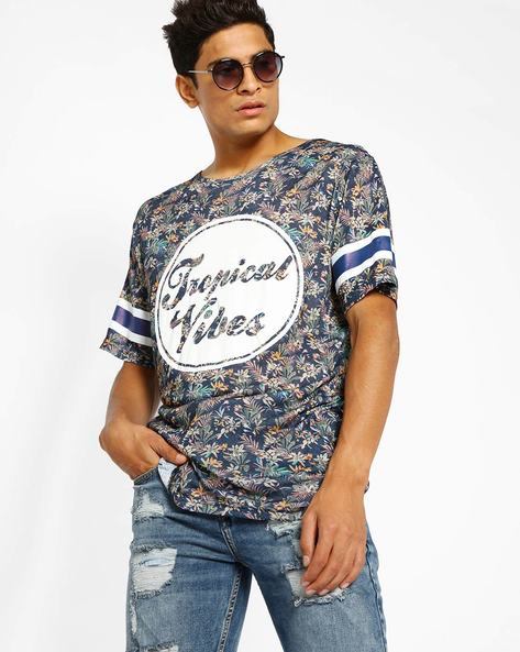 Tropical Print T-Shirt By ADAMO LONDON ( Multi )