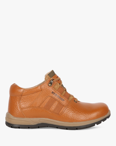 Panelled High-Top Casual Shoes By RED CHIEF ( Brown )