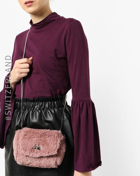 Faux-Fur Sling Bag By TALLY WEiJL ( Pink )