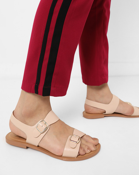 Sling-Back Flat Sandals By Carlton London ( Pink )