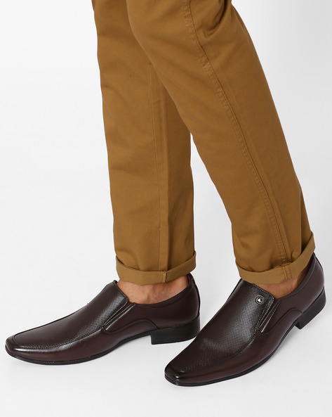 Formal Shoes With Textured Panel By ARROW ( Brown )