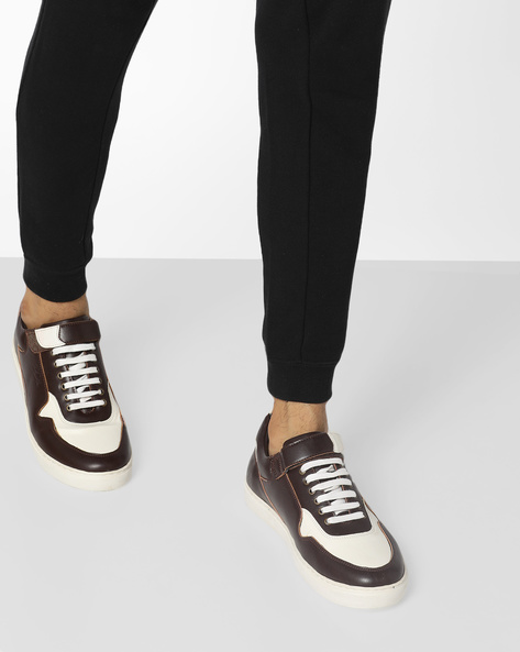 Colourblock Lace-Up Casual Shoes By BUCKAROO ( Brown )
