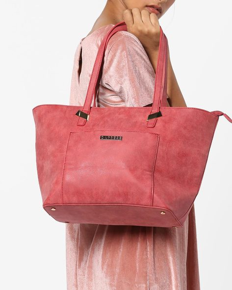 Tote Bag With Zipper Closure By CAPRESE ( Red )