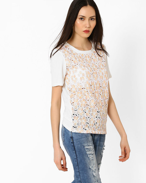 Crochet Top With Short Sleeves By Vero Moda ( White )