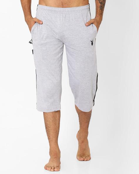 Cotton 3/4th Lounge Pants By Playboy ( Greymelange )