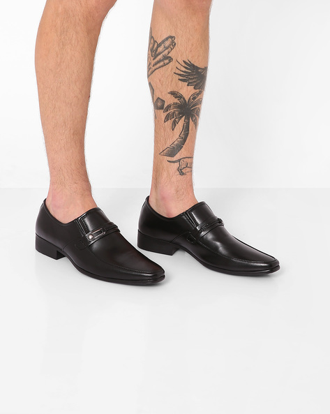 Slip-Ons With Elasticated Gussets By ALBERTO TORESSI ( Black )