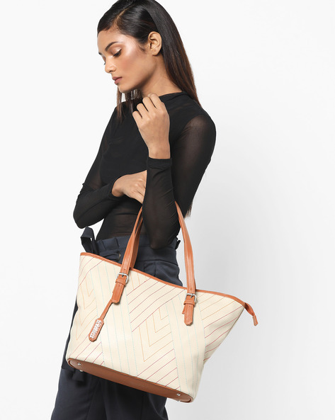 Quilted Shoulder Bag By Toteteca ( Offwhite )