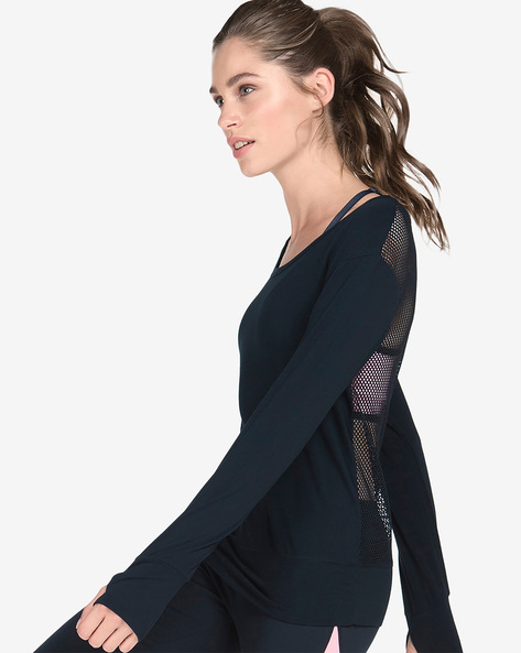 Top With Back Mesh Panel By Hunkemoller ( Blk )