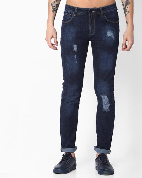 Slim Fit Mid-Rise Jeans By Blue Saint ( Lightblue )