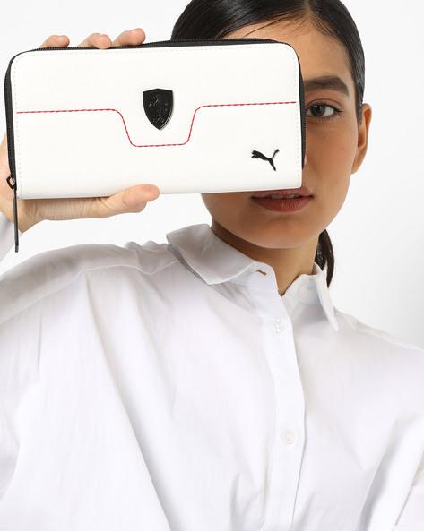 Textured Zip-Around Wallet By Puma ( White )