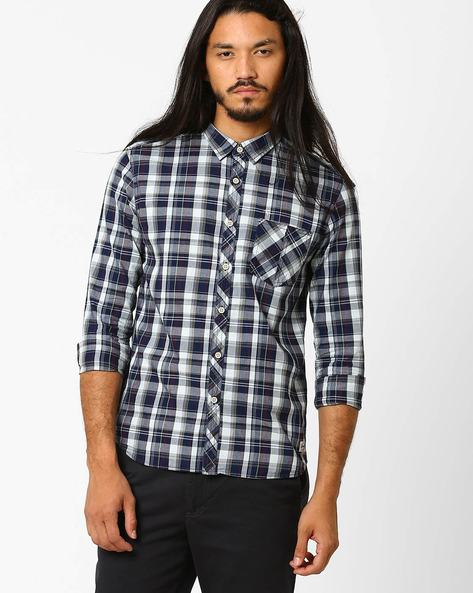Checked Casual Slim Shirt By FLYING MACHINE ( Assorted )