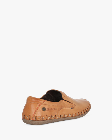 Slip-On Shoes With Elasticated Gussets By BUCKAROO ( Tan )