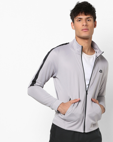 N98 Zip-Front Jacket With Insert Pockets By NIKE ( Grey )