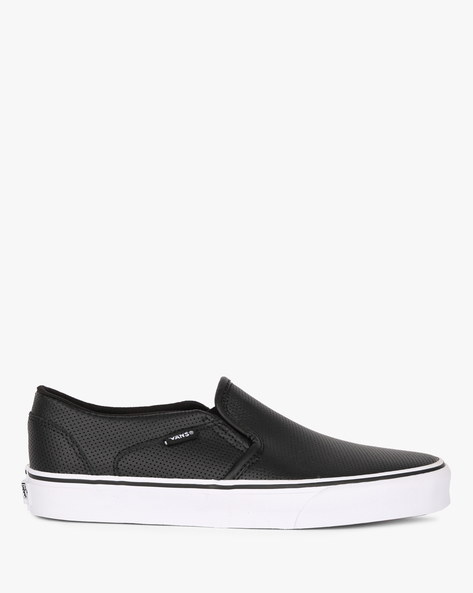 VQ- CD -Asher Perforated Slip-On Casual Shoes By Vans ( Black )