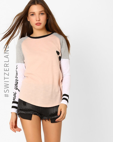 Printed Crew-Neck T-shirt By TALLY WEiJL ( Pink )