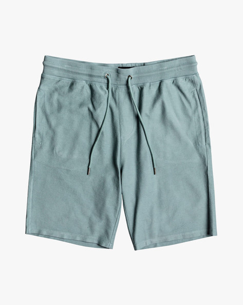 Cotton Shorts With Drawstring Waist By QUIKSILVER ( Bkw0 )