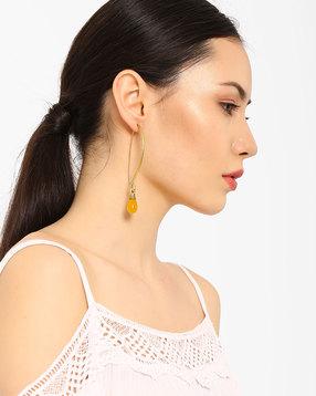 Drop-Earrings-with-Onyx-Stone