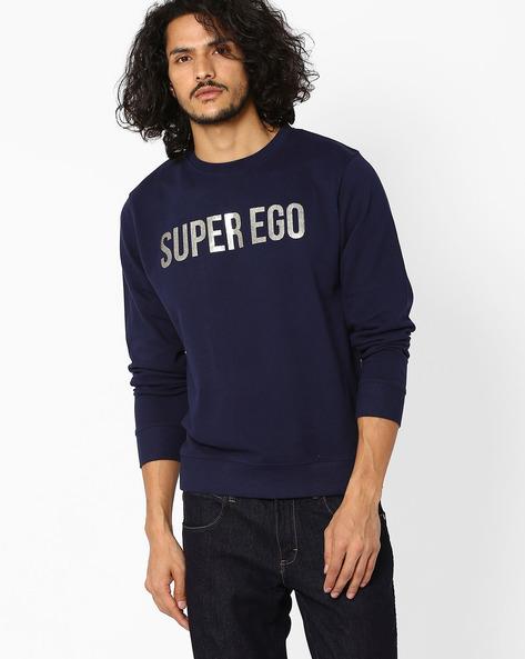 Printed Regular Fit Sweatshirt By Pepe Jeans ( Navy )