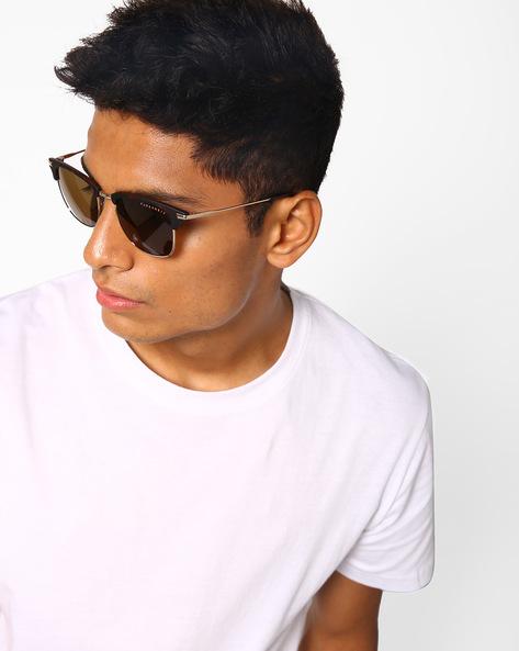 Full-Rim Clubmaster Sunglasses By Farenheit ( Brown )