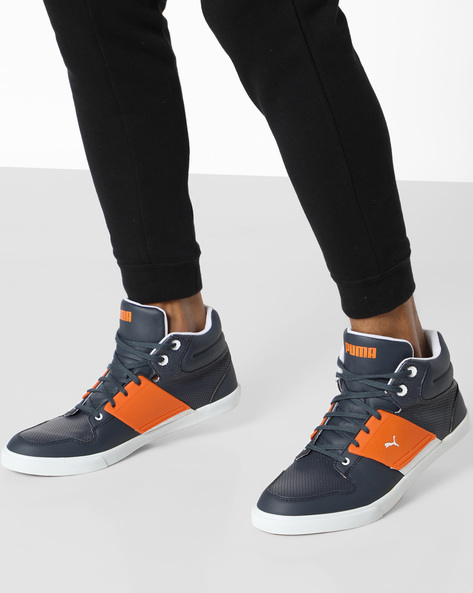 Mid-Top Sneakers With Perforations By Puma ( Navyblue )