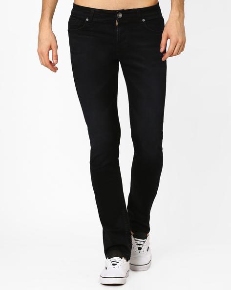 Hazel Slim Fit Lightly Washed Jeans By Killer ( Black )
