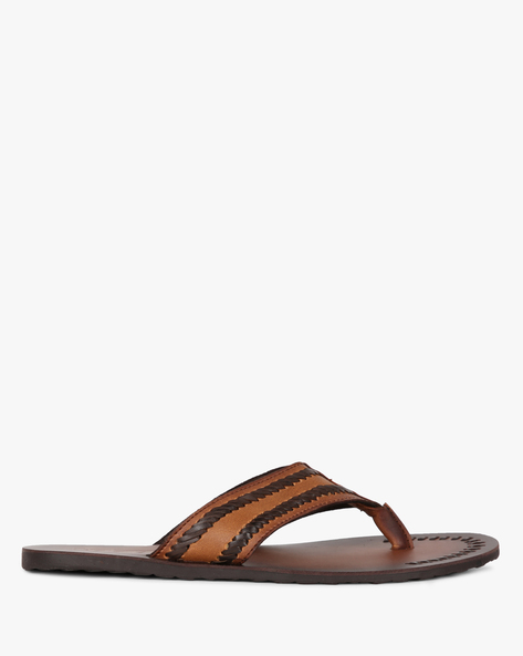 Braided Thong-Strap Slippers By Estd.1977 ( Brown )