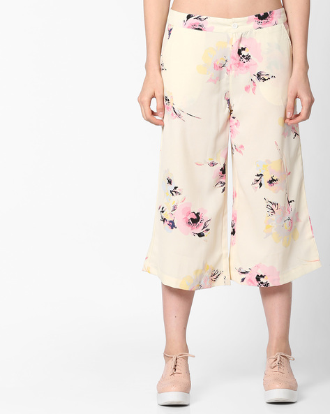 Floral Print Culottes By Project Eve WW Casual ( Yellow )