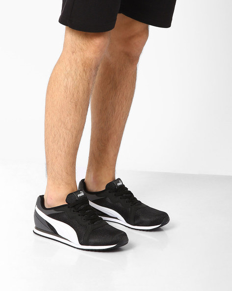 Pacer Lace-Up Sneakers By Puma ( Black )