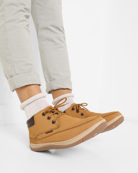 Panelled Lace-Up Shoes By RED CHIEF ( Brown )