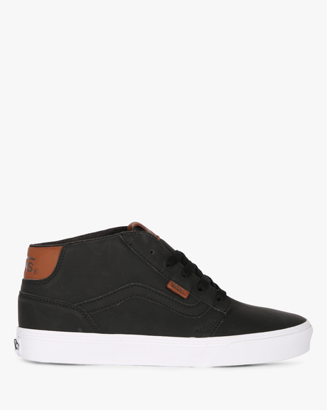 Mid-Top Casual Shoes With Lace-Ups By Vans ( Black )