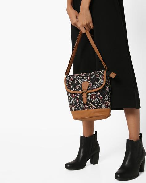 Jacquard Sling Bag By Kanvas Katha ( Tan )