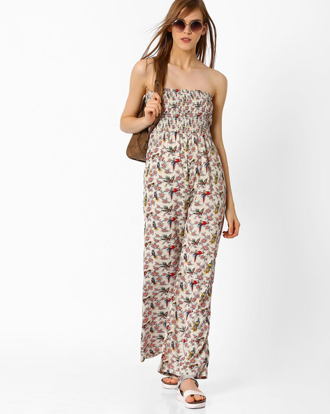 Printed Tube Jumpsuit By Oxolloxo ( Multi )