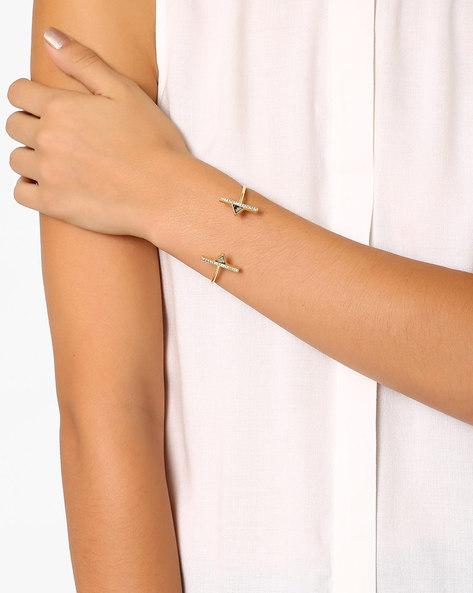 Cuff Bracelet With Rhinestones By Pipa Bella ( Multi )