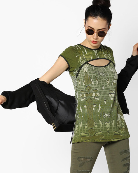 Printed Top With Cut-Outs By And ( Assorted )