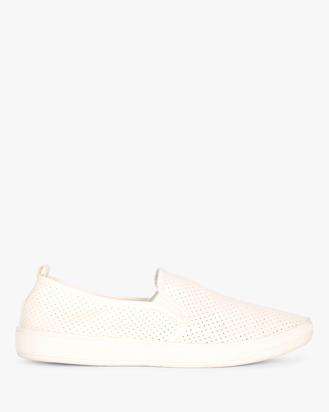 Slip-ons With Elasticated Gussets By AJIO ( White )