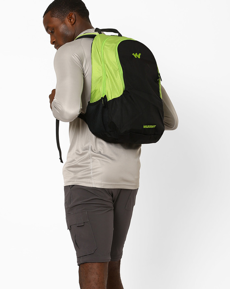 Colourblock Laptop Backpack By Wildcraft ( Green )