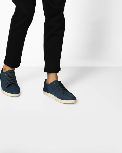 Lace-Up Shoes With Perforations By BCK By Buckaroo ( Blue )