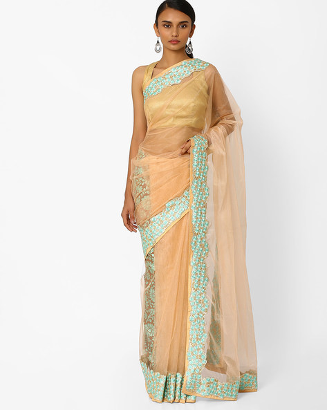 Floral Print Saree By RCPC ( Beige )