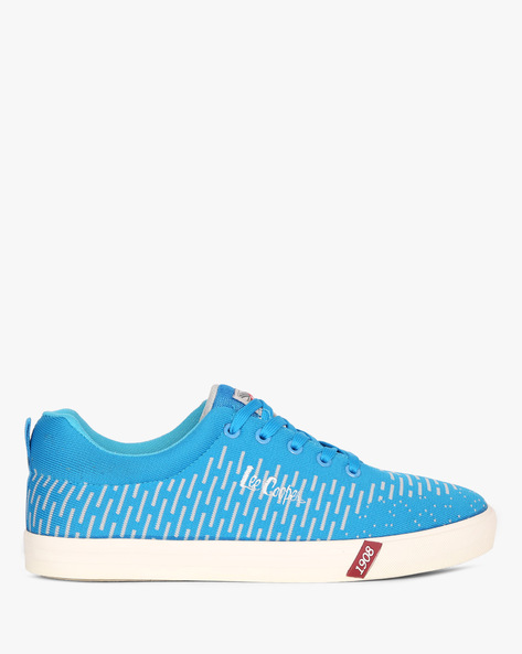 Low-Top Lace-Up Sneakers By Lee Cooper ( Sblue )