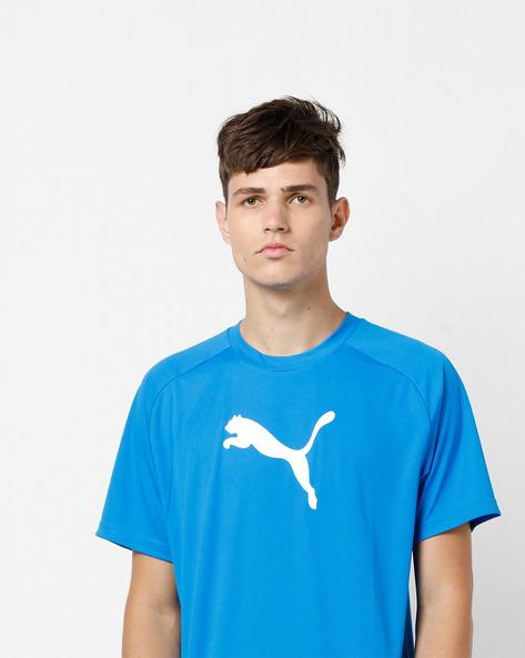 Crew-Neck T-shirt With Raglan Sleeves By Puma ( Blue )