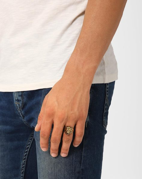 Simba Brass Ring By Alto Vida ( Gold )